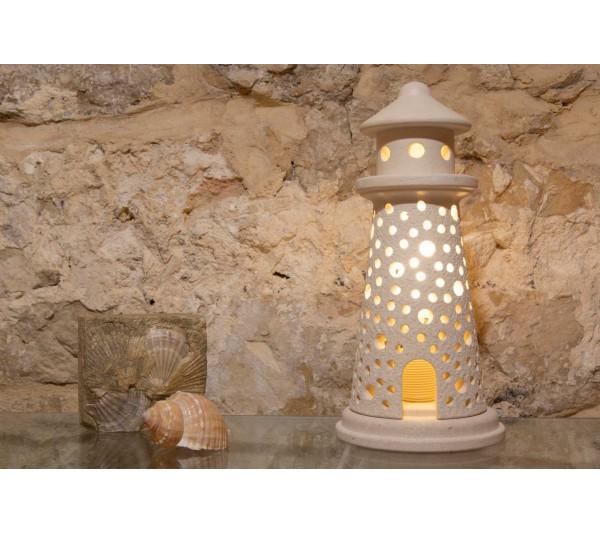 Lampada Faro con porta grande